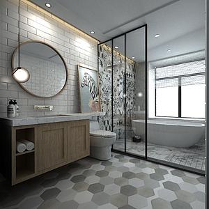 卫生间洁具3d模型