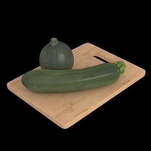 蔬菜西葫蘆模型
