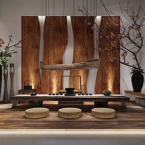 3d<font class='myIsRed'>新中式茶桌</font>椅模型