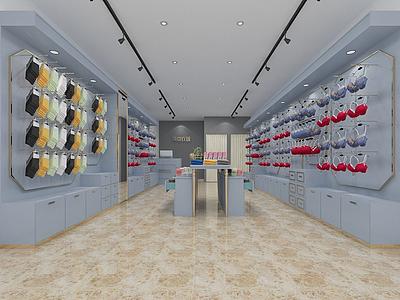 簡約內衣服裝店3d模型