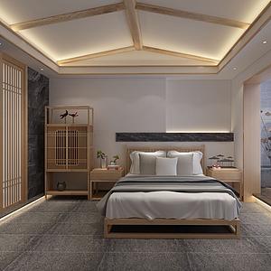 民宿臥室模型