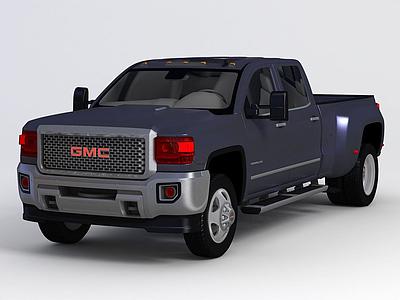 3d皮卡GMC SIERRA 2015款模型