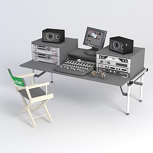 錄音棚設備模型