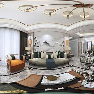中式客廳模型