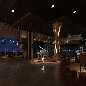 音樂餐廳模型