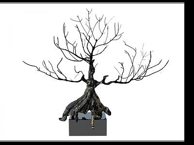 創意樹擺件模型3d模型