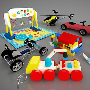 現代兒童活動器材模型