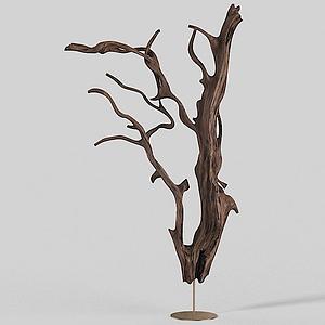 3d樹枝<font class='myIsRed'>雕塑</font>擺件模型