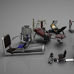現代健身器材模型