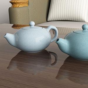 陶瓷茶壺模型