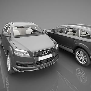 3d現代小汽車模型