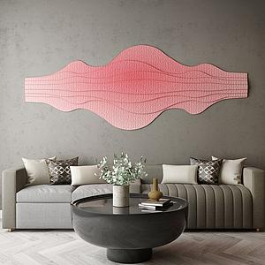 家具饰品组合休闲沙发模型