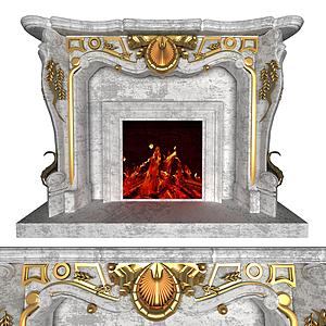 歐式壁爐模型