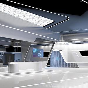 現代科技展廳模型