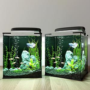 現代魚缸模型