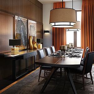 餐厅空间3d模型