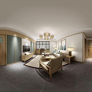 3d日式餐客厅模型
