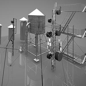 現代工業設備模型