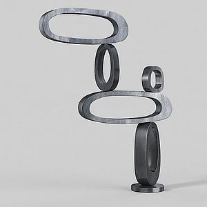 3d金属陈列品摆件模型