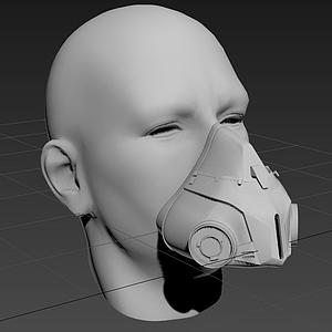 3d防毒面具模型