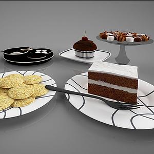 食物蛋糕甜點模型