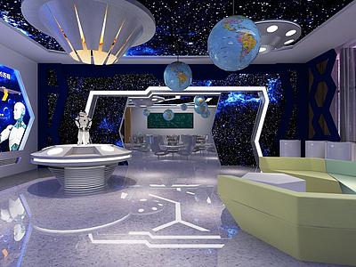 3d科技展廳展館模型