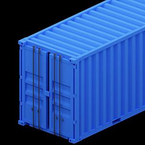 藍色集裝箱模型