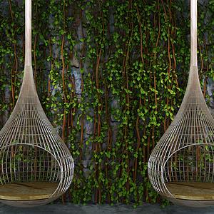 植物墻吊椅組合模型