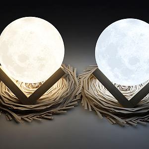 現代裝飾燈模型