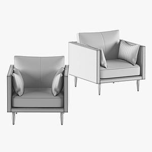 现代休闲单人沙发模型