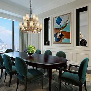 3d餐厅空间模型