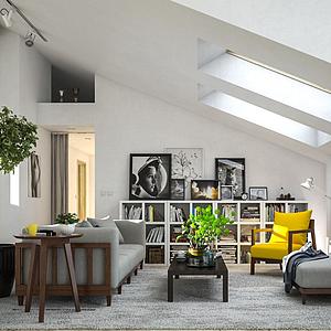 阁楼起居室3d模型