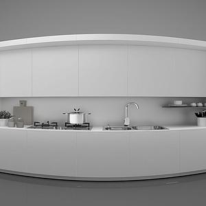 現代風格廚房模型