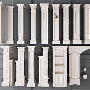 羅馬柱組合模型