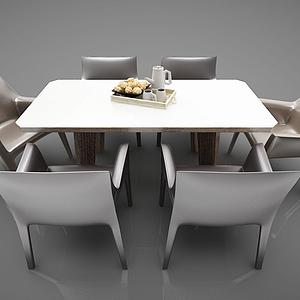 3d現代風格<font class='myIsRed'>餐桌</font>模型