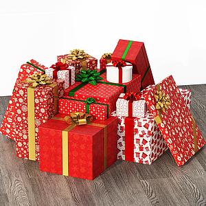 现代礼物摆件圣诞礼物模型