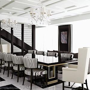 餐廳空間4模型