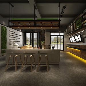 咖啡廳模型