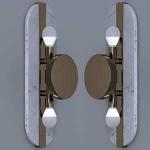 現代橢圓壁燈模型