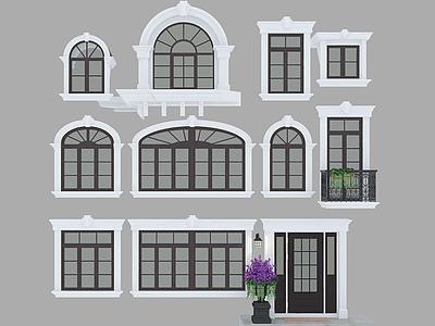 歐式風的窗模型3d模型