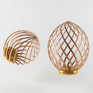 現代編織籠式鼓款蠟燭燈模型