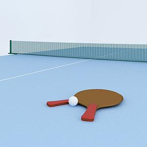 乒乓球臺模型