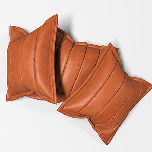 現代皮質抱枕模型