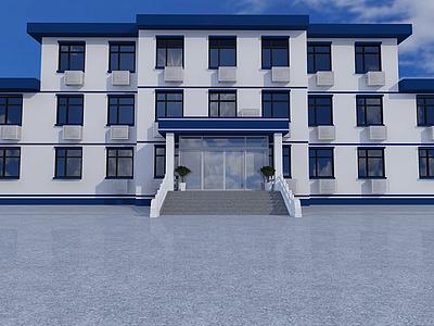 3d公安大樓模型