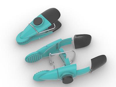 3d塑料物品夾模型
