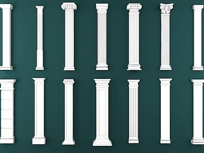 羅馬柱模型3d模型