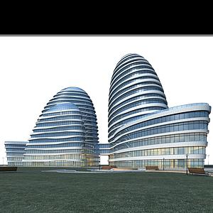 3d商業辦公大樓模型