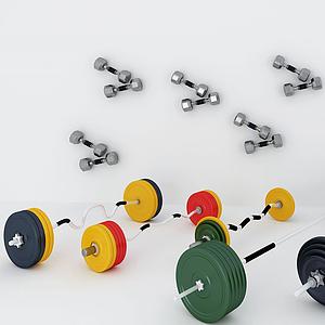 舉重體育器材模型