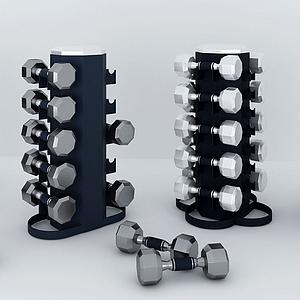 啞鈴健身器材架模型