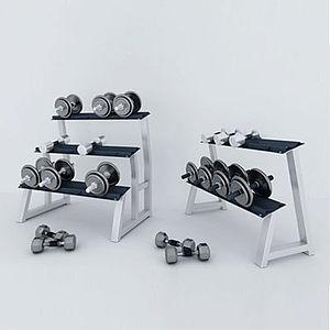 啞鈴健身器材組合模型